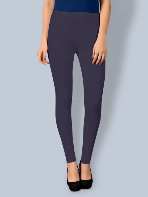 Cotton Ankle Leggings - Dark Navy