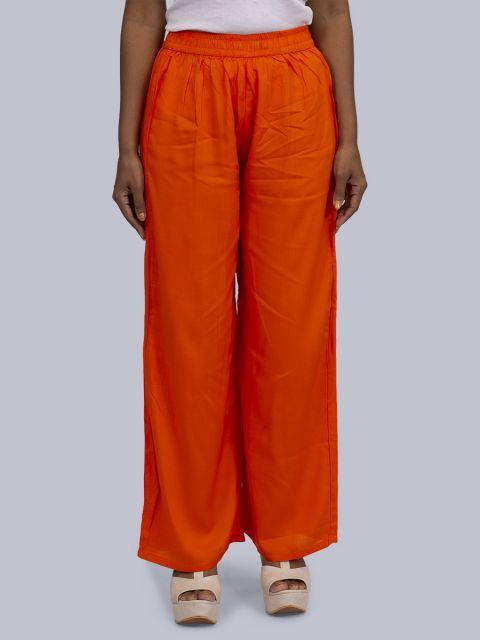 Women's Normal Ghera Palazzo - Orange