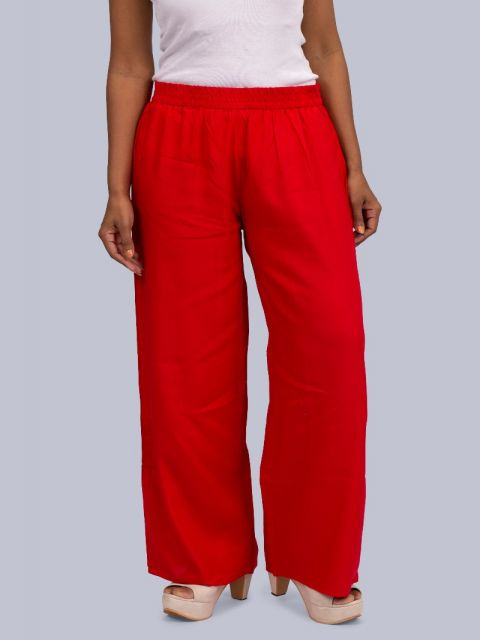 Women's Normal Ghera Palazzo - Red