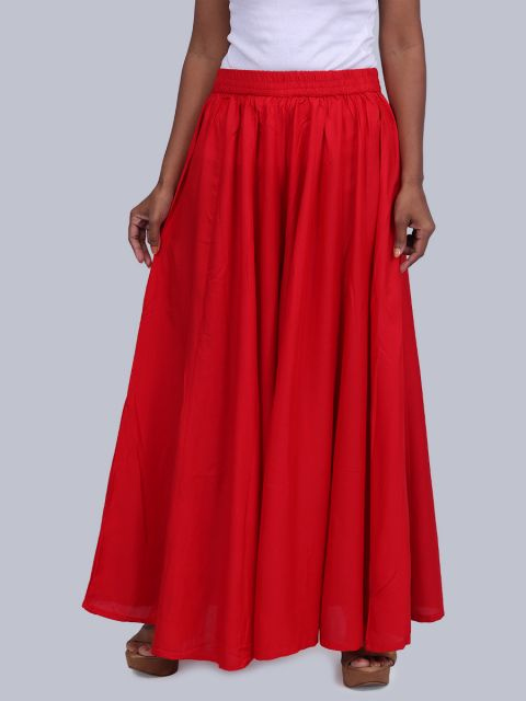 Women's 40 Inch Flared Palazzo - Red