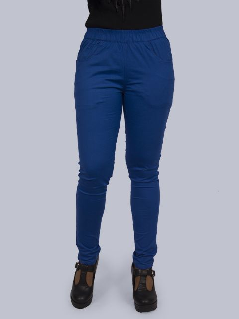 Solid Stretchable Pant - Royal Blue