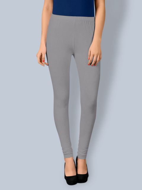 Cotton Chudidar Leggings - Grey