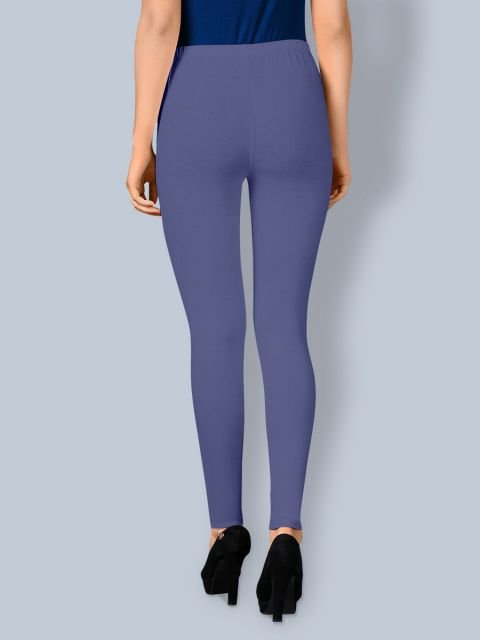 Cotton Ankle Leggings - Light Navy