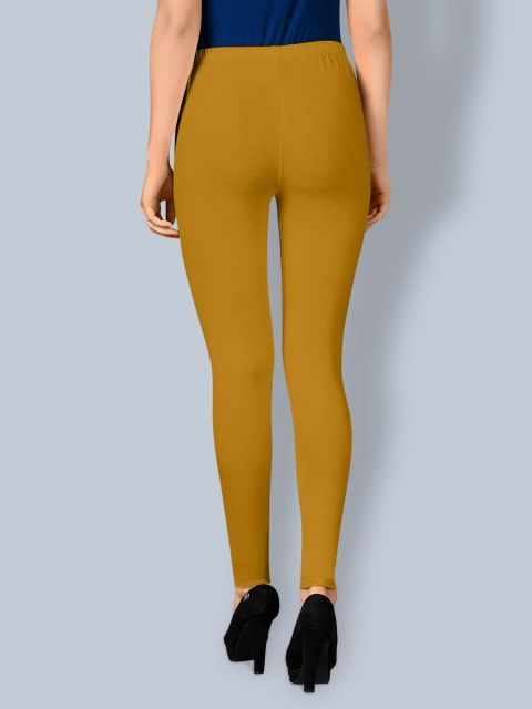 Cotton Ankle Leggings - Mustered