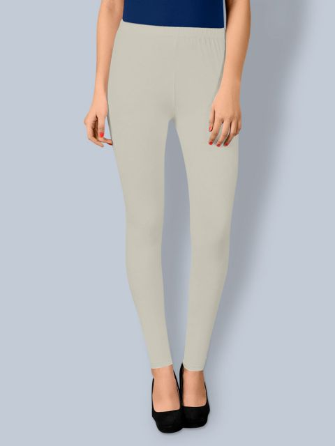 Cotton Ankle Leggings - Off White