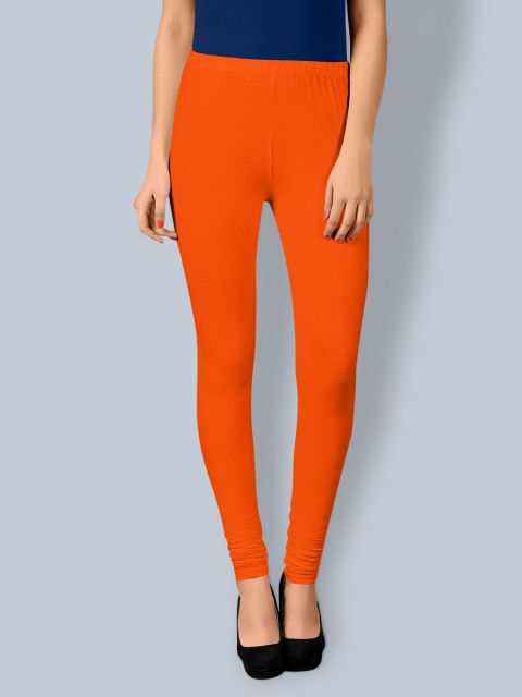 Cotton Chudidar Leggings - Orange