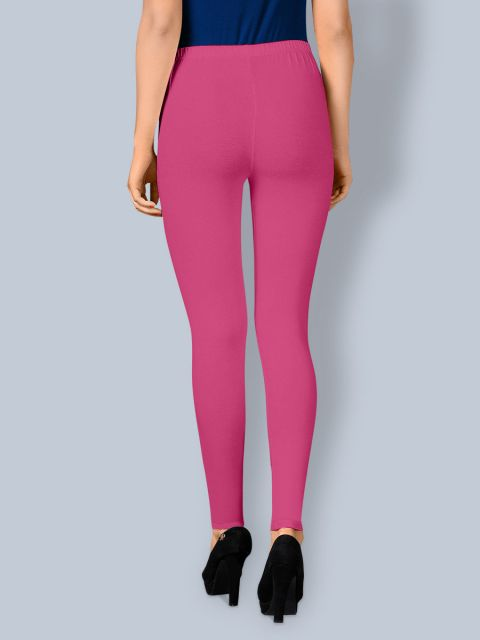 Cotton Ankle Leggings - Pink Flower