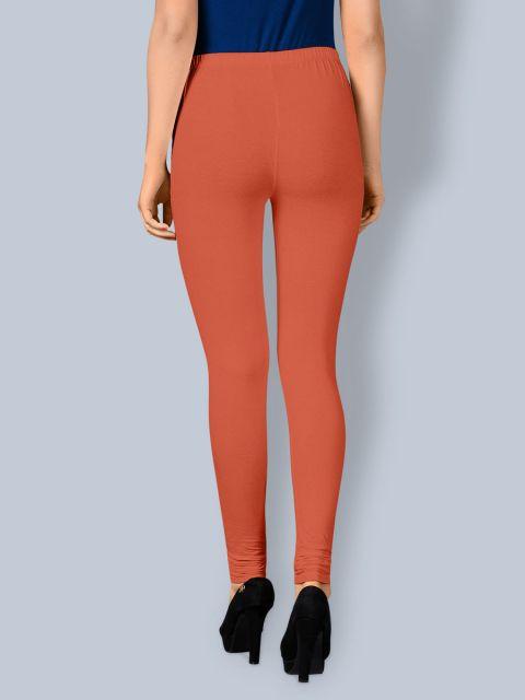 Cotton Chudidar Leggings -Pumpkin