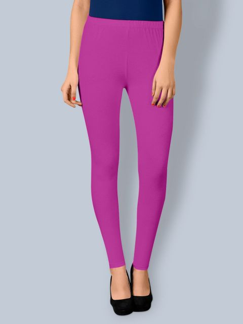 Cotton Ankle Leggings - Purple