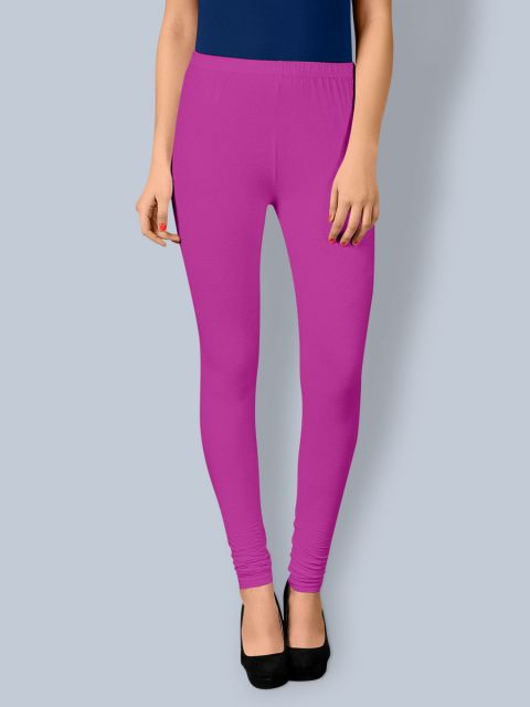 Cotton Chudidar Leggings - Purple