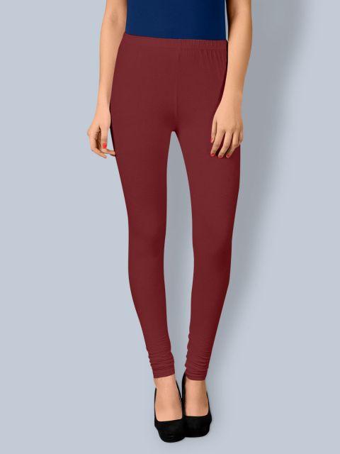 Cotton Chudidar Leggings -Red Wine