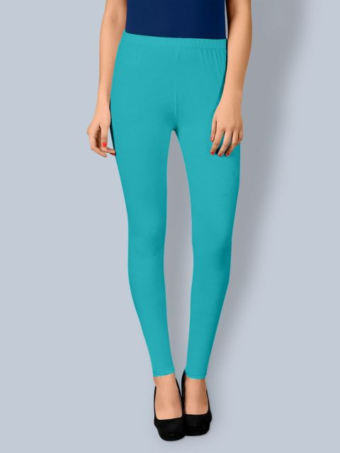 Cotton Ankle Leggings - Sea Green