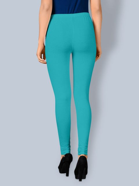 Cotton Chudidar Leggings - Sea Green