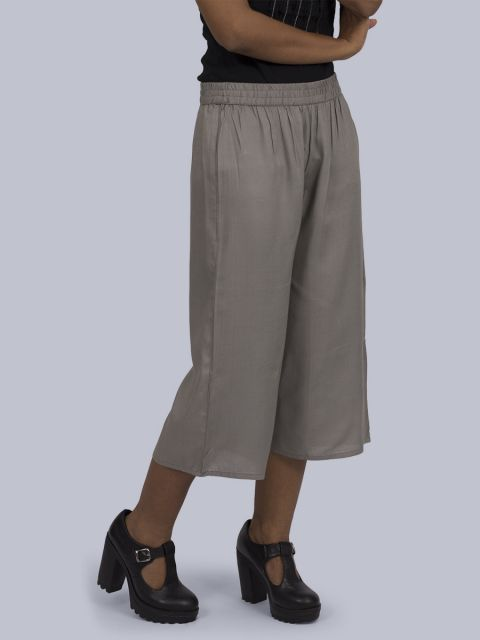 Women's Solid Culottes - Grey