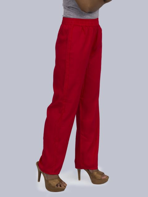 Women's Solid Pant Palazzo - Red
