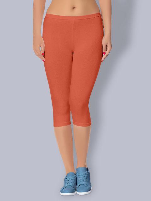 Cotton 3/4th Leggings - Pumpkin