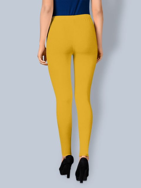 Cotton Ankle Leggings - Yellow Gold