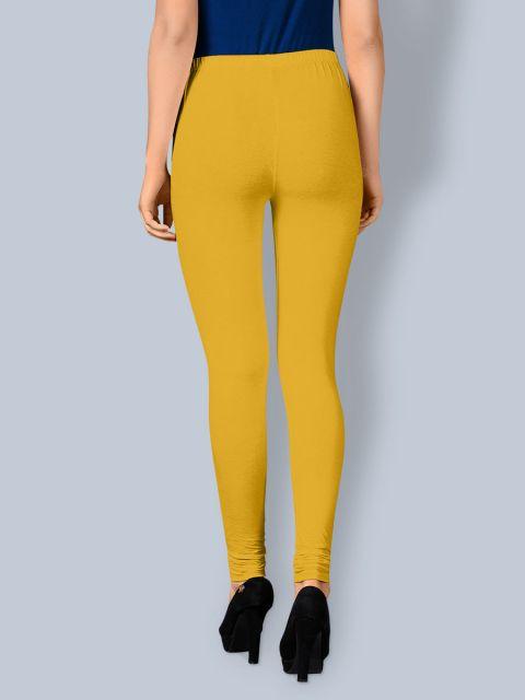 Cotton Chudidar Leggings -Yellow Gold